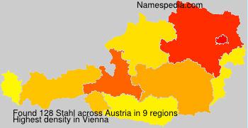 Surname Stahl in Austria