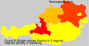 Surname Staiger in Austria