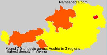 Familiennamen Stancevic - Austria