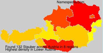 Surname Stauber in Austria