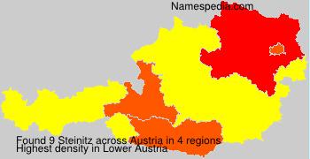 Surname Steinitz in Austria