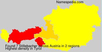 Surname Stillebacher in Austria
