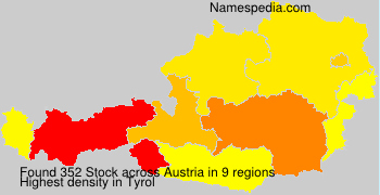Surname Stock in Austria