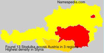 Familiennamen Stodulka - Austria