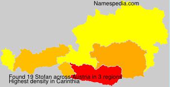 Surname Stofan in Austria