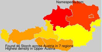 Familiennamen Storch - Austria