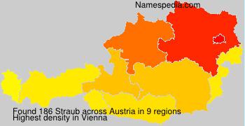 Surname Straub in Austria