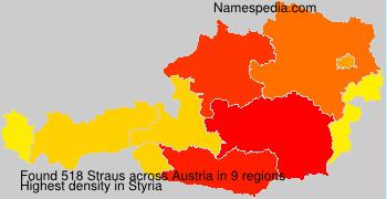 Familiennamen Straus - Austria