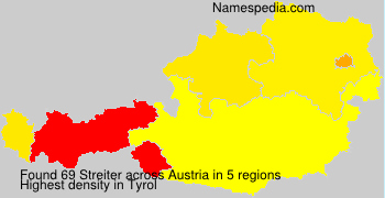 Familiennamen Streiter - Austria