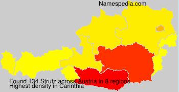Surname Strutz in Austria