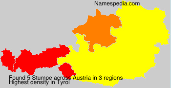 Surname Stumpe in Austria