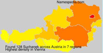 Familiennamen Suchanek - Austria