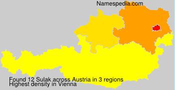 Surname Sulak in Austria