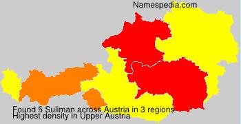 Familiennamen Suliman - Austria
