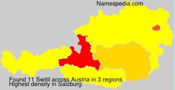Surname Switil in Austria