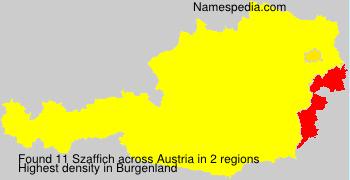 Surname Szaffich in Austria