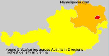 Familiennamen Szafraniec - Austria