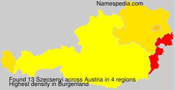 Surname Szecsenyi in Austria