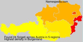 Surname Szigeti in Austria