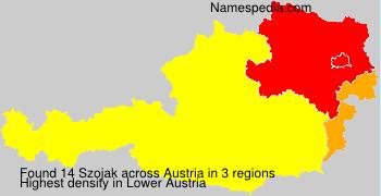 Surname Szojak in Austria