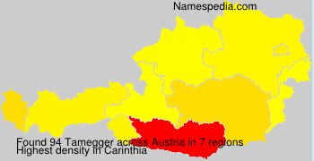 Surname Tamegger in Austria