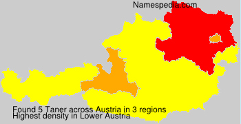 Surname Taner in Austria