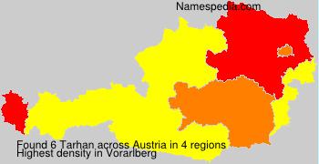 Familiennamen Tarhan - Austria