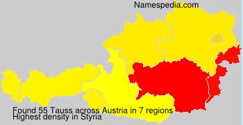 Surname Tauss in Austria