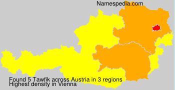 Surname Tawfik in Austria