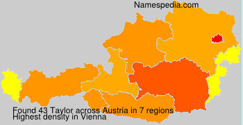 Surname Taylor in Austria