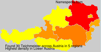 Surname Teichmeister in Austria