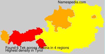 Surname Tek in Austria