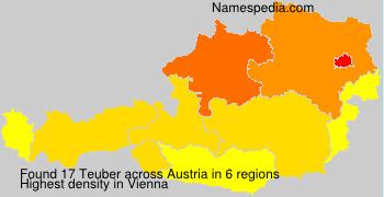Surname Teuber in Austria