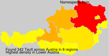 Surname Teufl in Austria