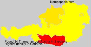 Familiennamen Thamer - Austria