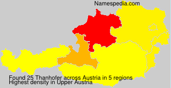 Surname Thanhofer in Austria