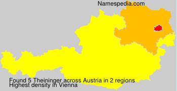 Surname Theininger in Austria