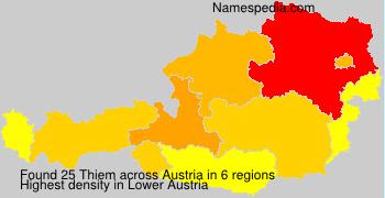 Surname Thiem in Austria
