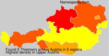 Surname Thiemann in Austria
