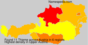 Surname Thieme in Austria