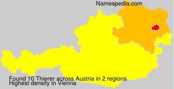 Surname Thierer in Austria