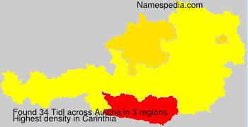 Surname Tidl in Austria