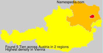 Familiennamen Tien - Austria