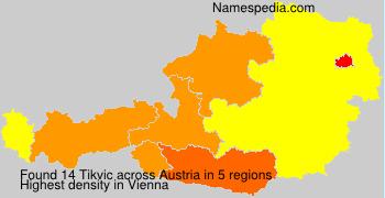 Familiennamen Tikvic - Austria