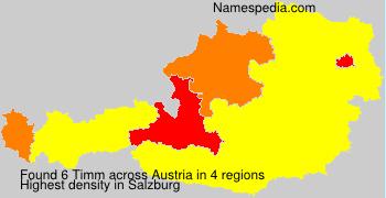 Surname Timm in Austria