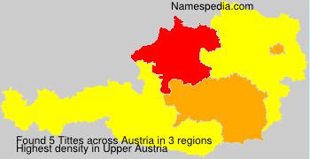 Familiennamen Tittes - Austria
