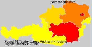 Surname Toader in Austria