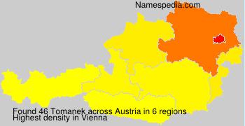 Surname Tomanek in Austria