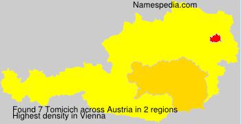 Surname Tomicich in Austria