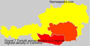 Familiennamen Toniutti - Austria